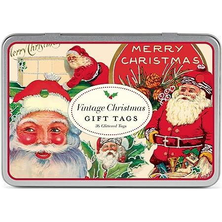 Present Favor Labels Vintage Traditional Santa Horse Christmas Gift Tags