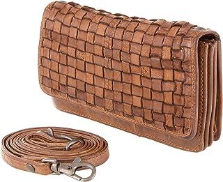 Bear-Design ZAROLO Umhängetasche Portemonnaie (17/10/ 3 cm) CL13995 geflochtenes, gewaschenes Leder