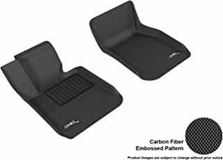 3D MAXpider Front Row Custom Fit All-Weather Floor Mat for Select BMW 3 Series Models - Kagu Rubber (Black)