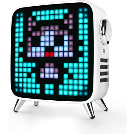 Divoom Tivoo Max Multifunctional 40W Premium LED Gaming Bluetooth Speaker with 10000 mah Lion Battery, White