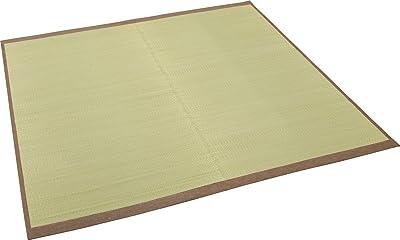 大島屋 い草 ラグ イ草 ラグ 与那国 約2.5帖  フローリング対応 い草 グリーン 約191×191cm