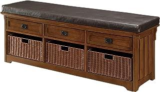 Coaster Home Furnishings 3-Drawer Storage Bench with 3-Basket Brown