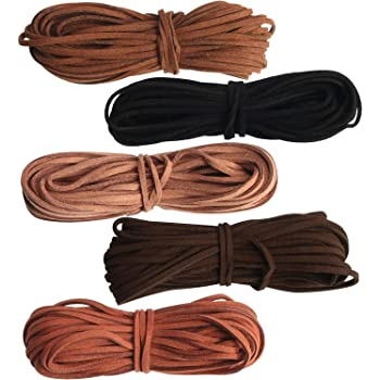 5m brown faux leather 2mm cord for jewellery making//stringing great for vegans