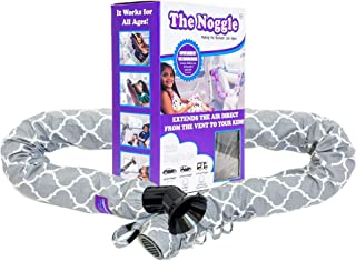 The Noggle - Making The Backseat Cool Again - Vehicle Air Conditioning System to Keep Your Kids Cool and Comfortable When Traveling in The Car - Works with Most Vehicles - 8ft, Grey Quatrefoil