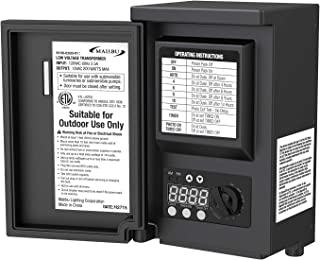 Malibu LED 200 Watt Low Voltage Transformer Power Pack with Digital Timer and Photo Eye