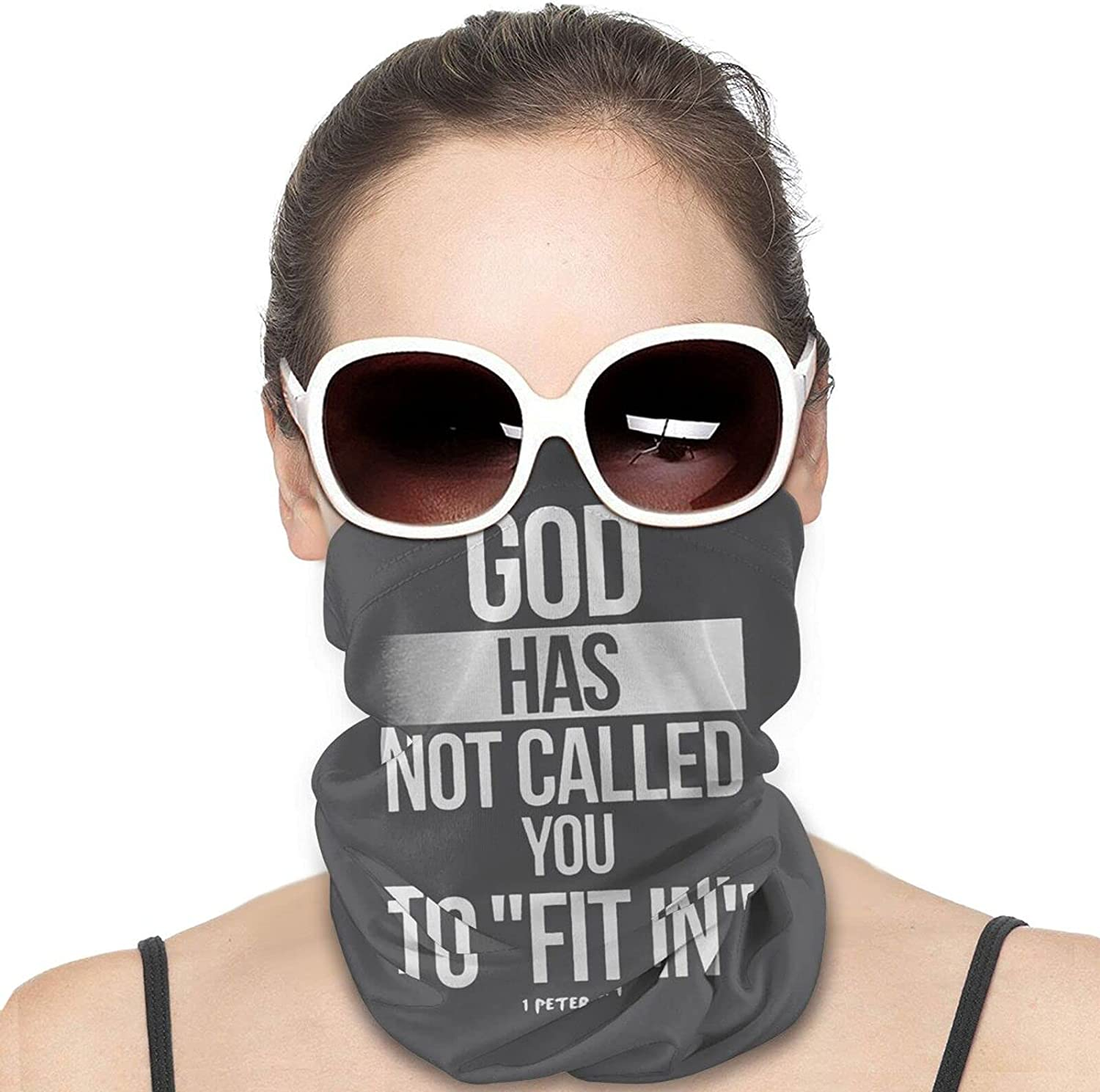 God Has Not Called You To Fit-In Round Neck Gaiter Bandnas Face Cover Uv Protection Prevent bask in Ice Scarf Headbands Perfect for Motorcycle Cycling Running Festival Raves Outdoors