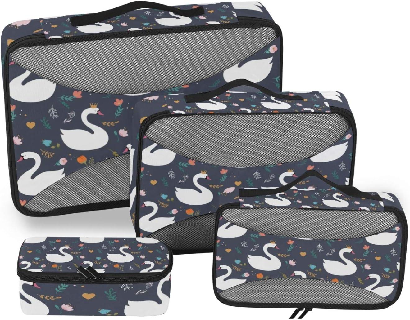 SALENEW very popular! Swan Packing Storage Bag 4-Pcs Accessories Stor Ranking TOP9 Organizer Travel