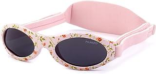 Gafas de sol PREMIUM POLARIZADAS para bebé, niño y niña. 0 meses a 2 años. UV400 100% protección rayos UVA y UVB. Suave puente de SILICONA para la nariz. Banda ajustable de NEOPRENO