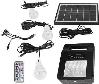 Solpanel, med FM -högtalare Bärbar USB -laddare Nödström, för område utan el inomhus utomhusbelysning