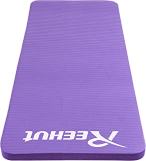 """Reehut Yoga Knee and Elbow Pad Cushion - 15mm (5/8"""") Thick - Mini Mat Complements Your Full-Size Exercise Mat with Strap"""