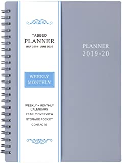 """2019-2020 Academic Planner - Weekly & Monthly Planner, July 2019 - June 2020, Flexible Cover,12 Monthly Tabs, 21 Notes Pages, Twin-Wire Binding with Two-Sided Inner Pocket, 5"""" x 8"""""""