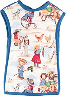 Bibbie Cute Stylish Reversible Baby Bib, Full Coverage, Made in the USA, Small (9-18 Months)