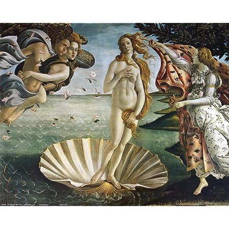 Sandro Botticelli the birth of venus print on canvas Paint Brushstrokes poster