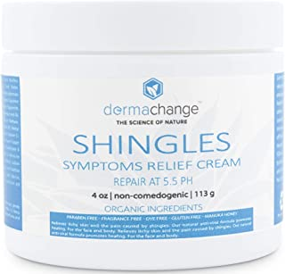 Organic Shingles Symptoms Relief Cream - with Manuka Honey - Antibacterial Face Body Recovery Cream - Nerve Pain Relief - Rash, Rosacea & Eczema Relief - Relieve Itchy Dry Skin (4 oz) - Made in US