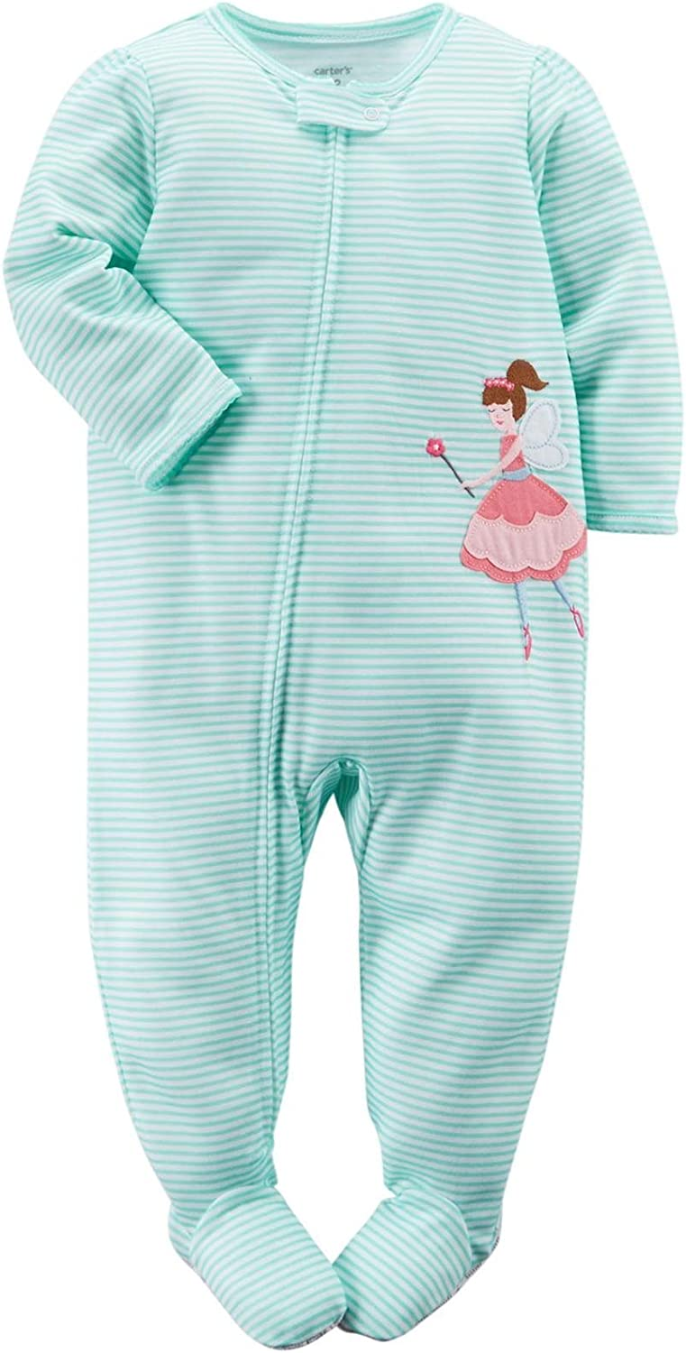 Carter's Little Girls' Striped Graphic Footie (Toddler) - Fairy Princess - 5T