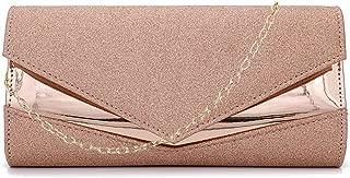 Gabrine Womens Shiny Sequins Evening Bag Lady Shoulder Bag Envelope Bag Handbag Clutch Purse for Wedding Prom Party