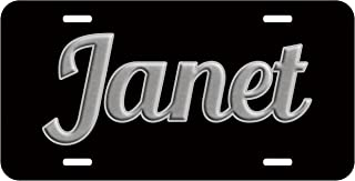 Top Craft Case Personalized Name on License Plate - Black Grey Fancy Custom Auto Car Tag