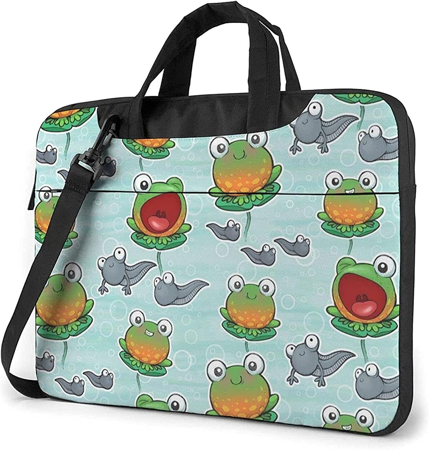 Epushow Cute Frog Factory outlet and Tadpole Laptop Strap Bag Inch 14 shopping Shoulder