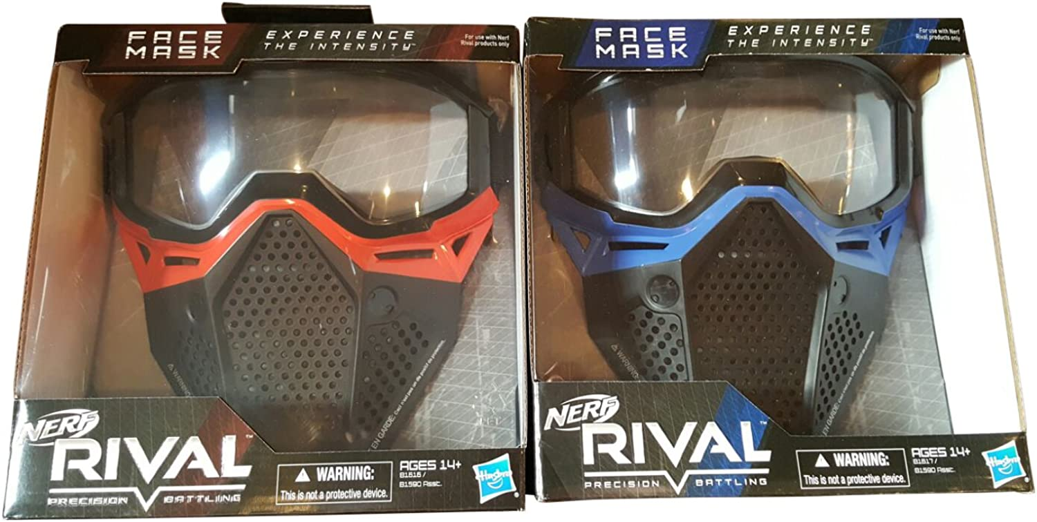 Nerf Rival Face Masks Red and bluee Bundle