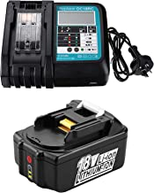 Sponsored Ad – 18V 5.0Ah Battery and Rapid Charger DC18RC with LED Replacement for Makita Job Site Radio DMR109 DMR109W DM...