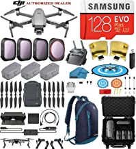 DJI Mavic 2 Pro Drone Quadcopter Fly More Combo, with 3 Batteries Hard Case and Backpack, ND, Cpl Lens Filters, 128GB SD Card with Hasselblad Video Camera Gimbal Bundle Kit with Must Have Accessories