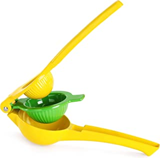 New Star Foodservice 43358 Premium Quality Metal Lemon Lime Squeezer - Manual Citrus Press Juicer