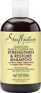 SheaMoisture Jamaican Black Castor Oil Strengthen and Restore for Damaged Hair Shampoo shampoo for Damaged Hair 13 oz.