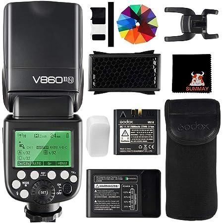 Godox V860II-N High Speed Sync 1 / 8000S GN60 2.4G TTL Li-on Batería Cámara Flash Speedlite para Nikon DSLR D800 D700 D7100 D7000 D5200 (V860II-N)