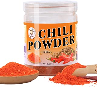 Yimi Five Spice Chili Powder, Chinese Chili Pepper Powder Seasoning, Spicy Hot Paprika for Szechuan Hot Pot, Mild Hot, 7oz, Holiday Gift