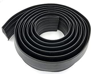 BOWSEN Garage Door Threshold Seal Bottom Weatherproof Floor Buffer Rubber, Not Include Sealant/Adhesive, Black (12 FT)