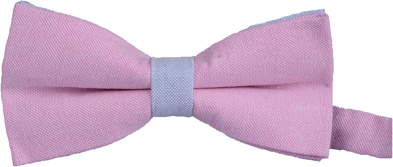Flairs New York Gentleman's Chambray Neck, Bow Tie & Pocket Square Matching Set