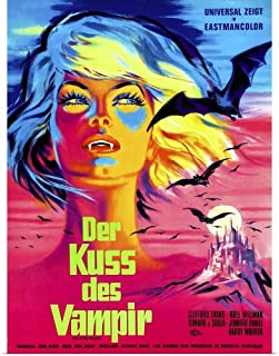GREATBIGCANVAS Poster Print Entitled Kiss of The Vampire - Vintage Movie Poster (German) by 12