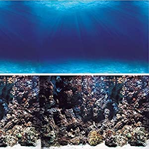 Vepotek aquarium background, double sides for choice