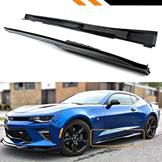 Fits for 2016-2019 Chevy Camaro LT SS RS Painted Gloss Black ZL1 Style Side Skirt Rocker Panel Extension