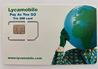 Lycamobile 60 dagen USA SIM-kaart Prepaid (incl. Hawaii & Puerto Rico) - mobiele gegevens 4G / LTE, onbeperkt nationale & ...