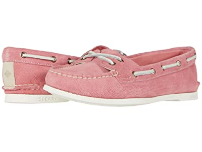 Sperry A/O Skimmer Pin Perf Nubuck (Coral) Women