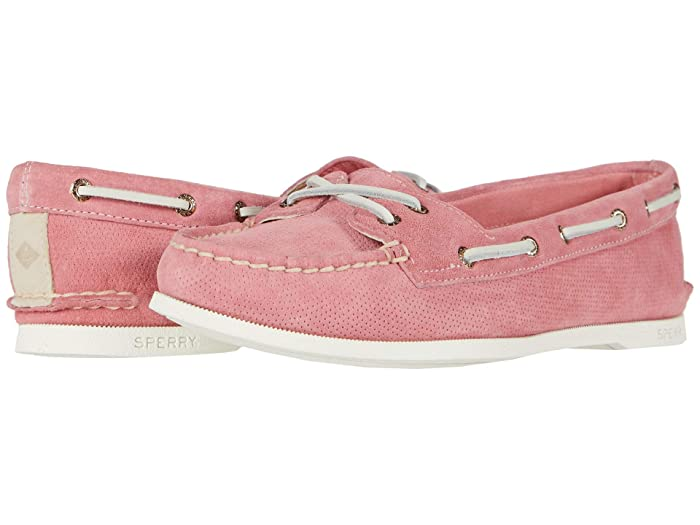 Sperry  A/O Skimmer Pin Perf Nubuck (Coral) Womens Shoes