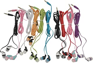 JustJamz Kidz 2.0 Color Call with Mic Stereo Earbud Headphones Mixed Colors - 10 Pack