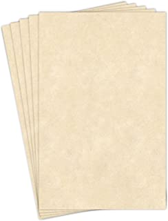"""Stationery Parchment Recycled Paper   65Lb Cover Cardstock   11"""" x 17"""" Inches   50 Sheets Per Pack   Natural"""