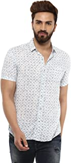 Mufti Button Down Printed Half Sleeves Shirt