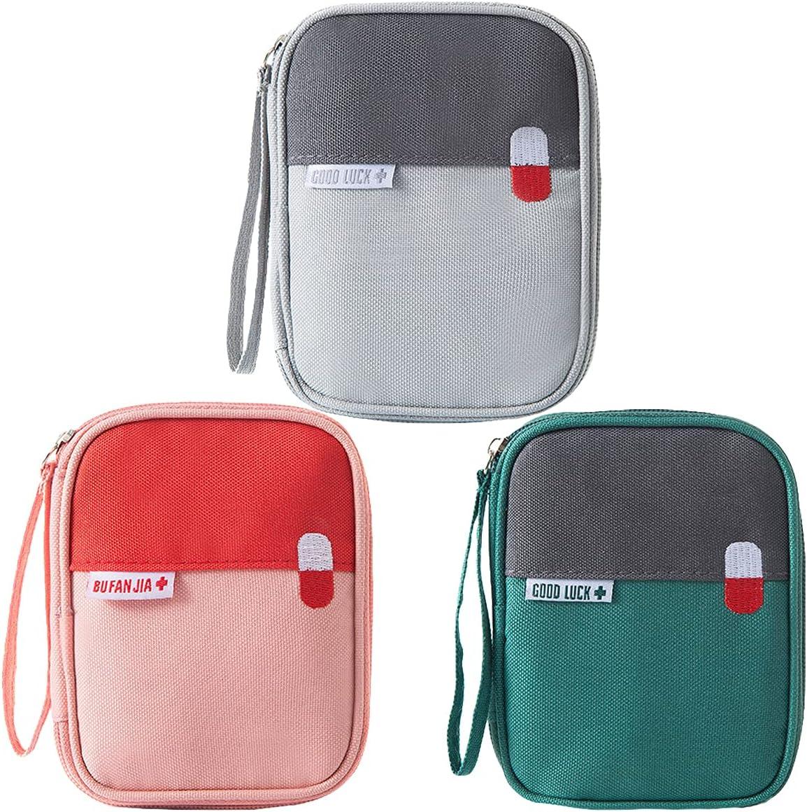 Mini Kit Medico da 3 Pezzi, kit di Pronto Soccorso Portatile per Bambini, Adatto per Viaggi, Campeggio, Ufficio, Casa, Studio