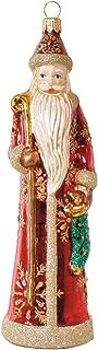Slender Santa Blown Glass Ornament Santa Claus