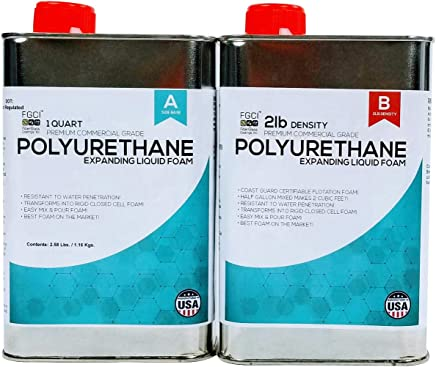 EXPANDING POLYURETHANE FOAM KIT 2LB DENSITY, 1/2 GALLON KIT, Fiberglass Coatings,