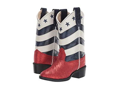 Old West Kids Boots Zoie (Toddler/Little Kid) (Red Glitter) Cowboy Boots