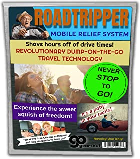 Gears Out Roadtripper Mobile Relief System – Revolutionary Dump-On-The-Go Technology – Novelty Adult Diaper for Travelers – Disposable Diaper for Driving, OSFM