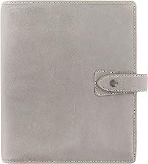 """$139 » Filofax Malden Leather Organizer Agenda Calendar with DiLoro Jot Pad Refills (A5 Paper Size 8.62"""" x 5.82"""", Stone 2020-2021)"""