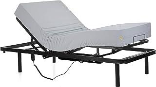 Ferlex - Cama articulada eléctrica geriátrica hospitalaria con Patas fijas | Colchón Sanitario viscoelástico (105x190)