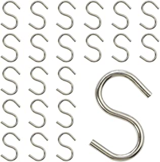 Mini S Hooks Connectors S Shaped Wire Hook Hangers 200pcs Hanging Hooks for DIY Crafts, Hanging Jewelry, Key Chain, Tags, Fishing Lure, Net Equipment (0.95 Inch)