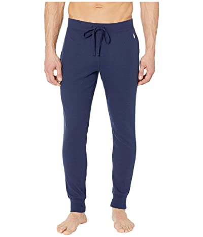 Polo Ralph Lauren Midweight Waffle Solid Jogger Pants (Cruise Navy/White Pony Print) Men