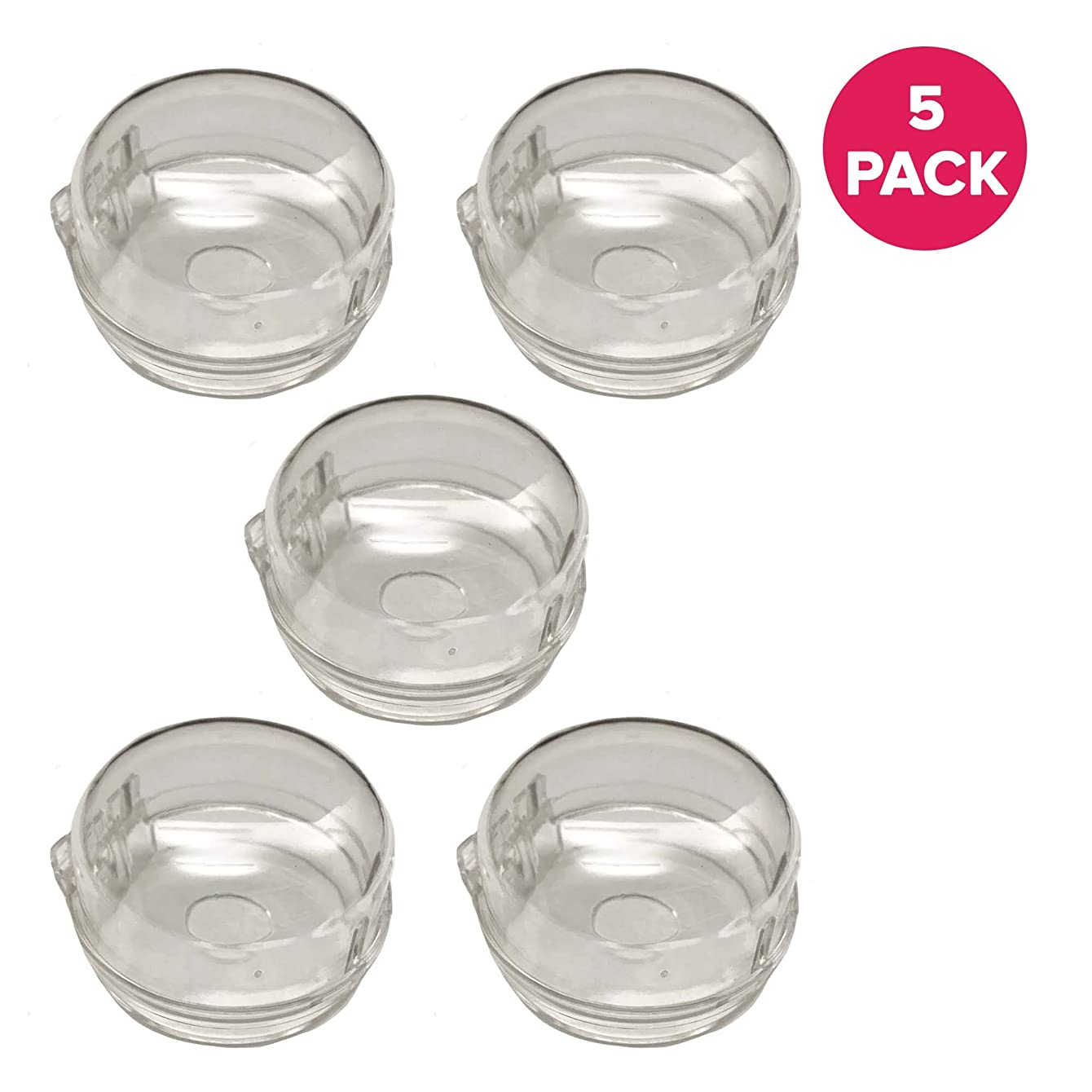 Think Crucial 5 Stove Burner Knobs, Clear